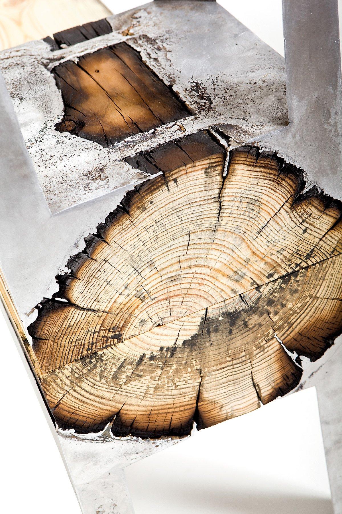 Дерево под металл своими руками 33
