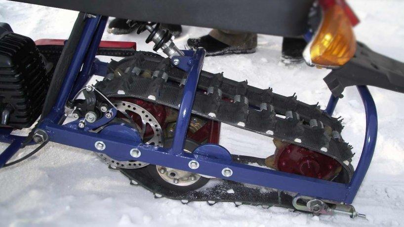 Как с колеса сделать гусеницу для снегохода