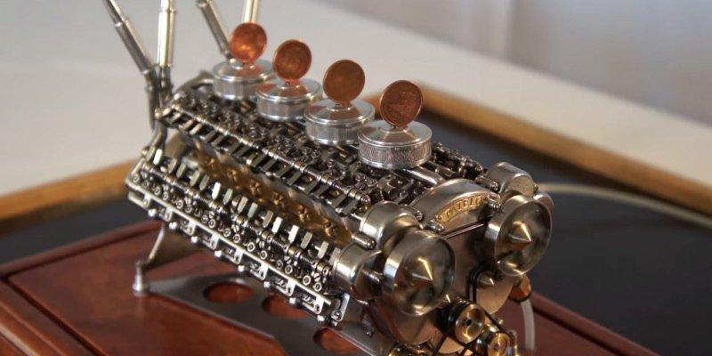 Самый маленький в мире 12-ти цилиндровый двигатель