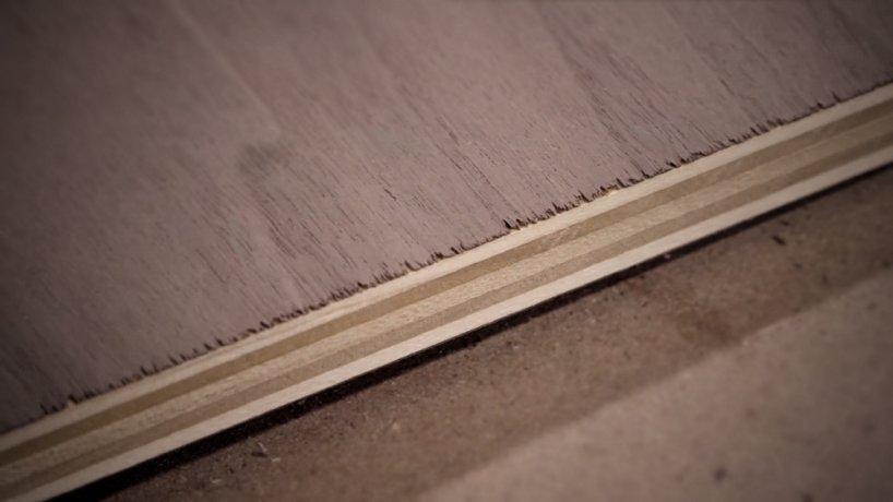 Как предотвратить скалывание шпона при раскрое шпонированных панелей