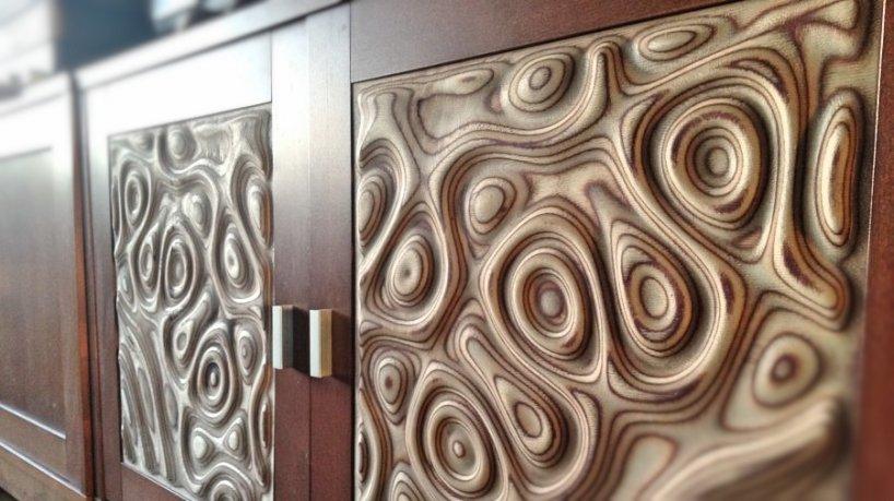 Потрясающая по простоте и изящности идея для мебельных филенок