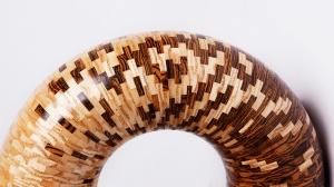 Сегментный «Бублик» из дерева - 100 Уровень упертости и трудолюбия!