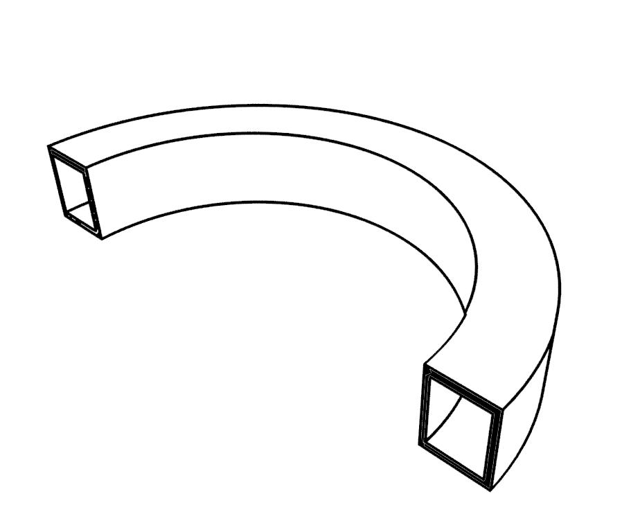 Профильная                труба. Допустимые размеры для гиба на трубогибе HTB70-80                BlackSmith