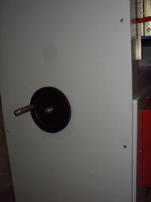 Рейсмусовый станок СР6-20М1, подьем опускание рабочего стола при помощи маховика
