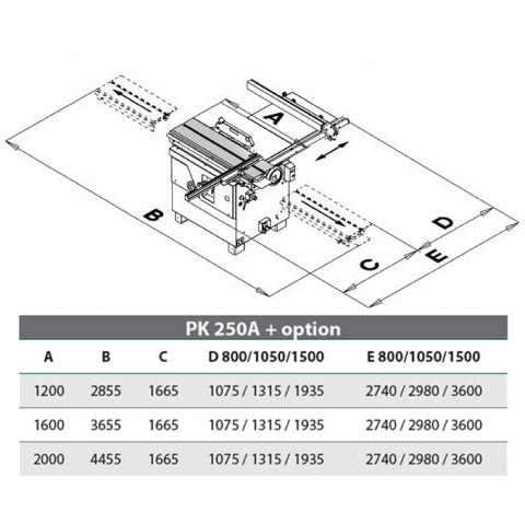 Круглопильный форматно-раскроечный станок PK250A