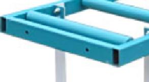 стыковочные отверстия и крепежные болты роликового стола РН 2-500 С
