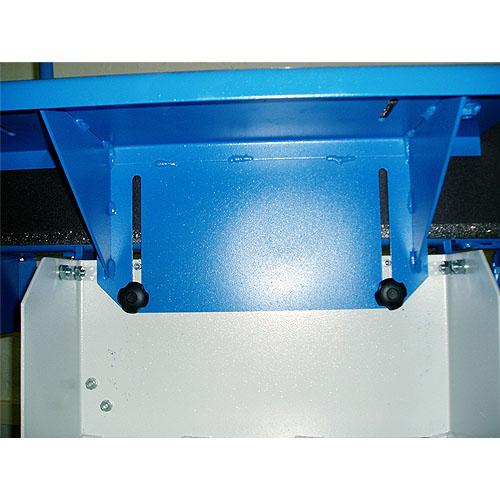 Ленточный шлифовальный станок HB 800. Подъем стола.