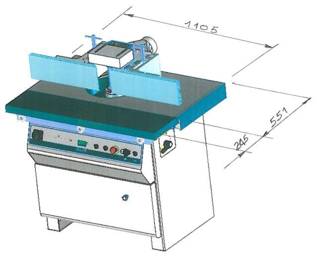 Т 210 TC - размеры стола