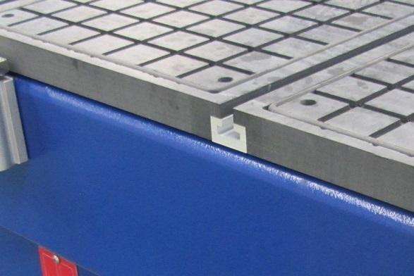 Комбинированный вакуумный стол с Т-пазами фрезерного станка с ЧПУ beaver 2513AVT6