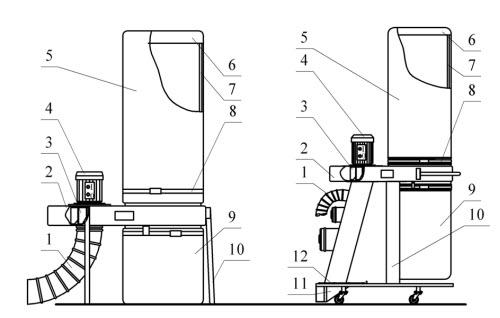 Схема стружкоотсоса УВП-1200, УВП-2000