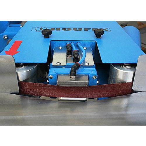 Ленточный шлифовальный станок с профильным утюжком HBP 100. Утюжок.