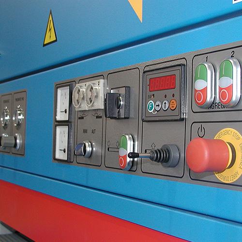 Шлифовальный станок BULDOG 5, панель управления