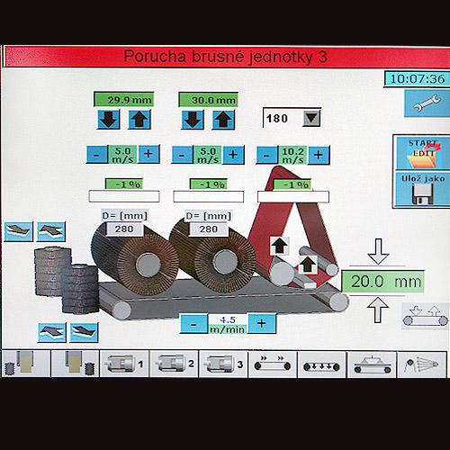 Щеточно-шлифовальный станок FINAL, CNC.