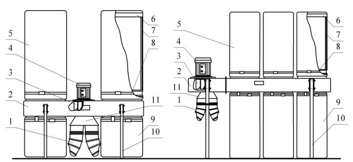 Схема стружкоотсоса УВП-3000, УВП-5000