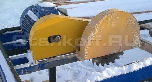 Однопильный кромкообрезной станок РБК-100