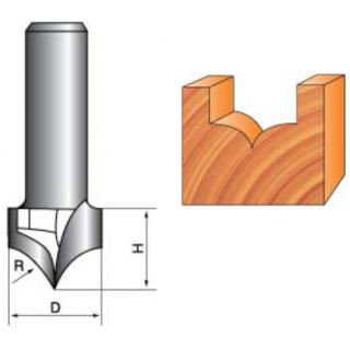 Фреза вогнутая фасонная полукруглая радиусная для станка с ЧПУ NJZD610