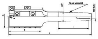 Фреза концевая, шейперная с механическим креплением твердосплавных пластин