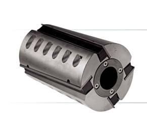 Фреза цилиндрическая фуговальная с аксиальным разворотом ножа для строгального станка