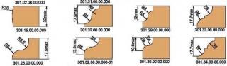 Фрезы концевые профильные, напаянные пластинами твердого сплава, для обработки профиля