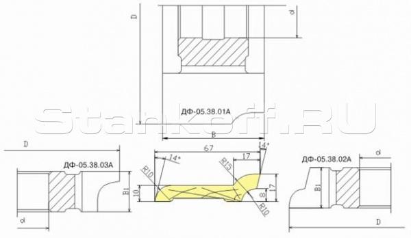 Комплект фрез для изготовления европлинтуса ДФ-05.38 А