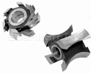 Комплект фрез для изготовления радиусной обшивочной доски блокхаус (BLOCK-HOUSE) BH-01
