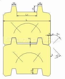 Комплект фрез для изготовления стенового бруса ДФ-18.22