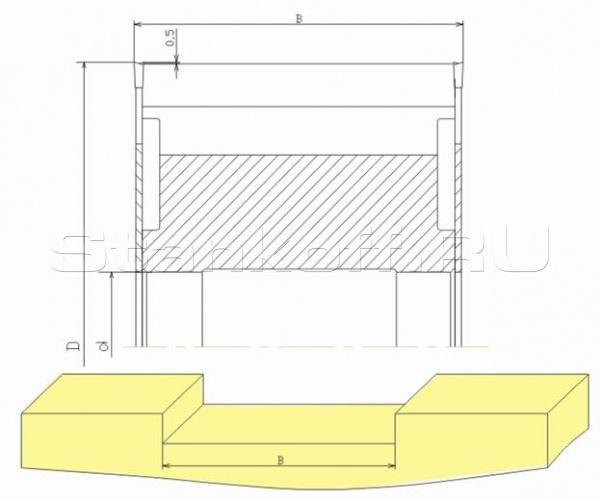 Комплект фрез для выборки пазов поперек волокон в брусе ДФ-18.25