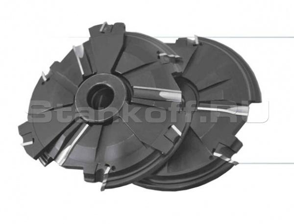 Комплект фрез, с механическим креплением ножей, для изготовления дверной обвязки, филенки и шипа дверей