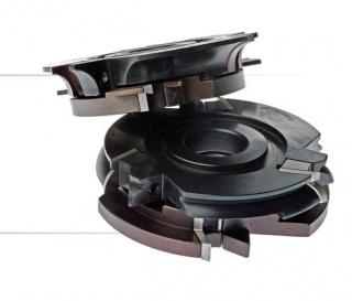 Комплект фрез, с механическим креплением ножей, для изготовления филенки и мебельной обвязки
