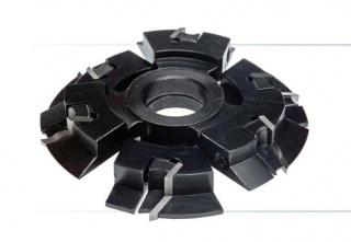 Комплект фрез, с механическим креплением пластин, для изготовления мебели