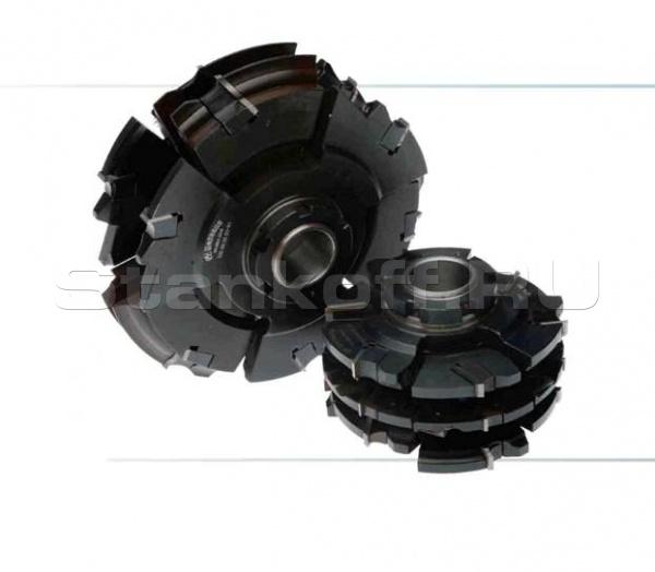 Многофункциональный комплект с механическим креплением твердосплавных ножей для изготовления дверной обвязки