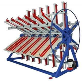 Роторный пресс для клееного щита РГ6-2500-900-50