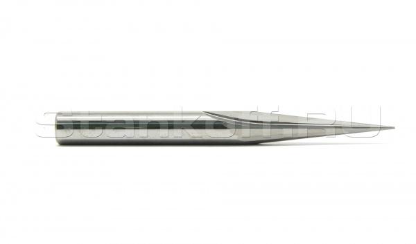 Фреза прямая двухзаходная конусная сферическая для 3D обработки на станке с ЧПУ N2ZXJQ6301080