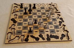 Как сделать шахматную доску с фигурами на лазерном станке? [Подробная инструкция]