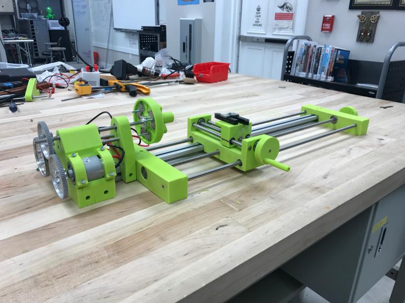 Токарный станок напечатанный на 3D-принтере! [Чертежи прилагаются]