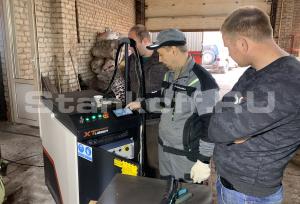 Запустили оптоволоконный лазер для сварки металла XTW-1000 в Соболево (Московская область)