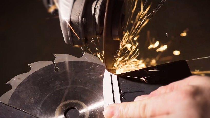 Делаем складной нож из старой дисковой пилы  + чертежи