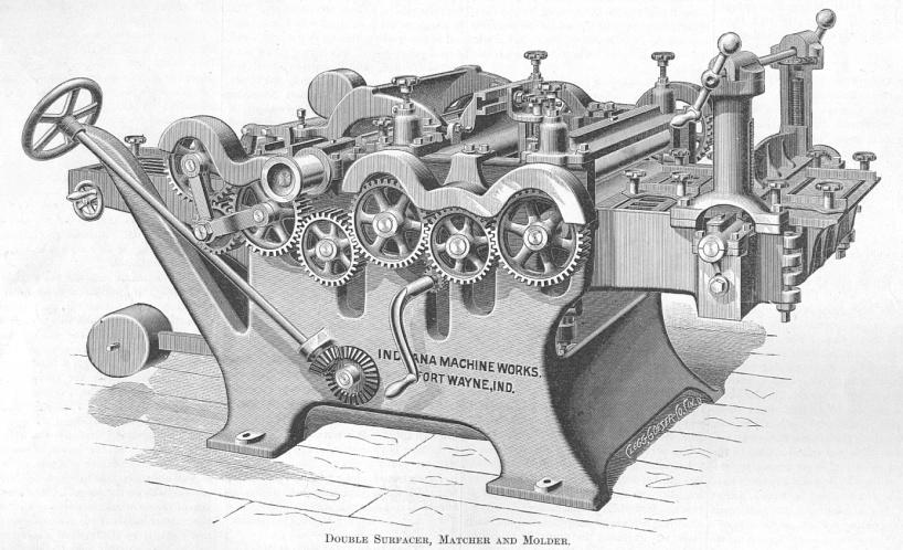 Как выглядели станки для деревообработки в 19 веке