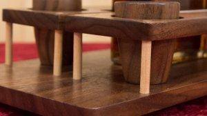Идея для подарка на 23 февраля - Делаем деревянный набор для виски
