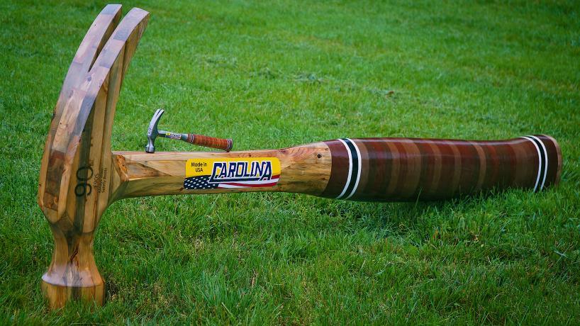 Гигантский деревянный молоток своими руками