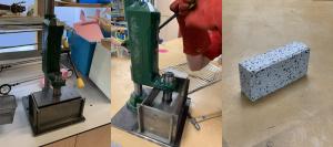 Пресс для создания кирпичей из пластика — своими руками