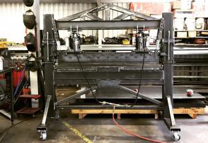 Как сделать гидравлический листогиб с усилием гибки 40-тонн своими руками