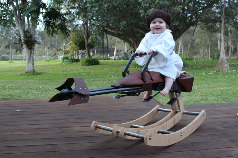 Качалка для ребенка в форме спидера из звездных войн своими руками!