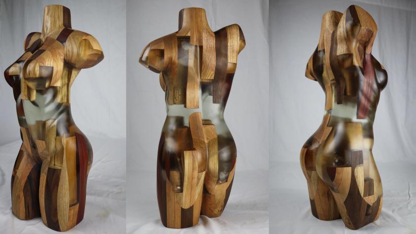 Скульптура из эпоксидной смолы и дерева своими руками!