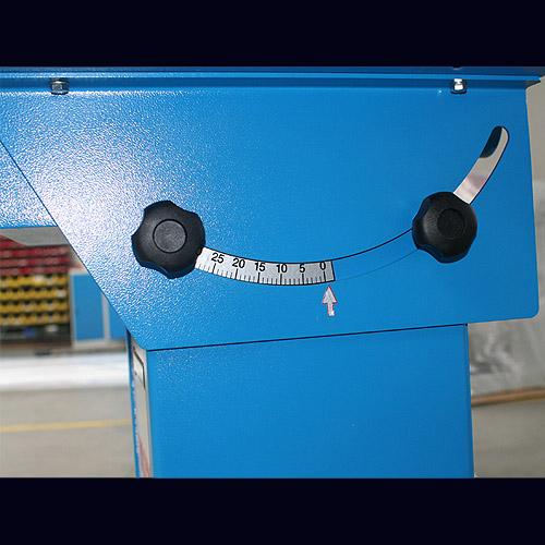 Вертикальный шлифовальный станок VB 120, наклон стола.