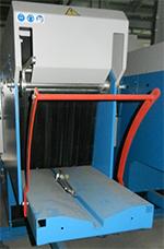 Когтевая защита на входе в станок препятствует выбросу заготовки