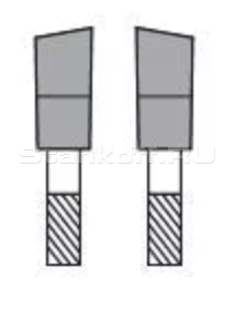 Скошенный зуб (Правы, Левый)