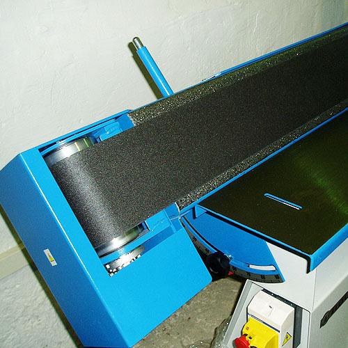 Ленточный шлифовальный станок HB 800. Наклон узлов.