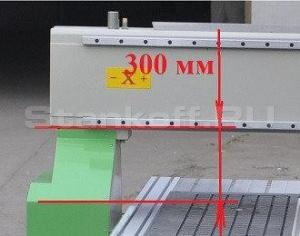 Высота портала по оси Z=300 мм