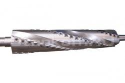 Спиральный ножевой вал с поворотными ножами